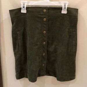 Dresses & Skirts - Small suede forest green skirt